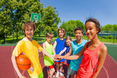 Free Close-up Of Teens With Arms In Star Shape Stock Photos - 57845473