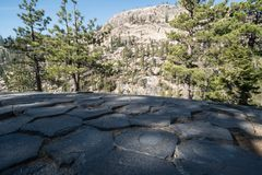 Free Close-up Of The Hexagonal Shapes Formed Naturally At The Top Of Devil`s Postpile National Monument In The John Muir Wildness Near Royalty Free Stock Photo - 139029225