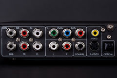 Free Close Up Of The Plugs For The 5.1 Surround Sound S Royalty Free Stock Photos - 27188318