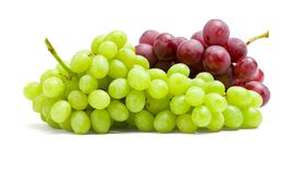 Close Up Of Two Bunches Of Grape Stock Photo
