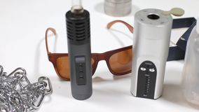 Free Close-up Of Two Different Vaporizers For Marijuana, Hashish Royalty Free Stock Photography - 156677997