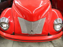 Close Up Of Vintage Car(red) Stock Photography