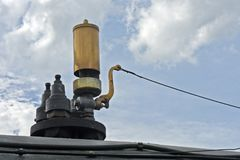 Free Close-up Of Whistle Of Old Steam Locomotive Royalty Free Stock Photo - 106355075