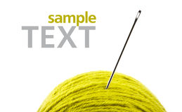 Close Up Of Wool Knitting Stock Photography