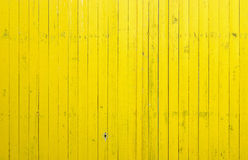 Close Up Of Yellow Wooden Fence Panels Stock Photography