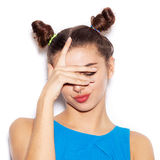 Close-up Of Young Woman Showing Emotions Royalty Free Stock Photo