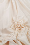 Close up of Off White Wedding Gown Details Royalty Free Stock Photos
