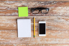 Close up of office stuff on table Royalty Free Stock Images
