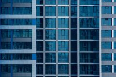 Modern highrise building windows close stock image