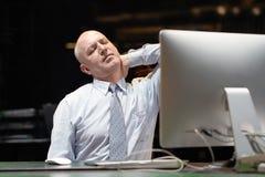 The man headache. Man squeezes her headeadache stock images