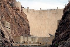 Close up ofHoover Dam Royalty Free Stock Photo