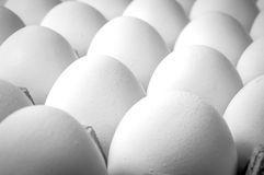 Close up of eggs on crate Royalty Free Stock Photography