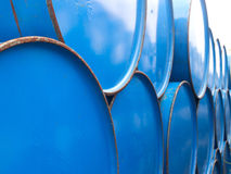 Close up oil barrels Stock Image