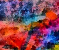 Close up oil paint abstract background. Art textured brushstrokes in macro. Part of painting. Old style artwork. Dirty watercolor. Impression color mix abstract stock photography