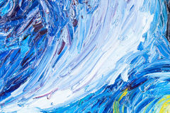 Close up of oil painting. Stock Image