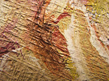 Close-up of oil painting canvas Stock Photography