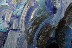Close up of oil painting colors Royalty Free Stock Photos