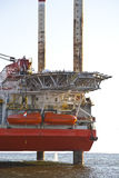 Close up of oilrig at sea Stock Photos