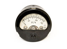 Close-up of an old ampermeter Royalty Free Stock Photos