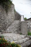 Close up on old ancient medival stone stairs Stock Image