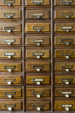Close-up of an old apothecary cabinet Stock Images