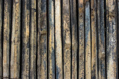 Close up of Old Bamboo background Royalty Free Stock Photos