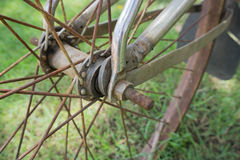 Close up of an old Bicycle Wheel Stock Photography