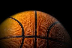 Close up Old Black and Orange Basketball Royalty Free Stock Photo