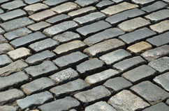 Close-up of old block pavement Royalty Free Stock Photos