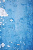 Close up old blue concrete wall Royalty Free Stock Photography