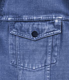 Close-up of old blue jeans pocket Stock Images