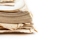 Close up of old book pages background with copy space Stock Photography