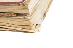 Close up of old book pages background with copy space Royalty Free Stock Photo