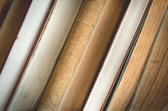 Close-up of old books. Royalty Free Stock Images