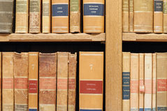 Close-up on old books in library Stock Images