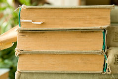 Close-up of old books in a library Royalty Free Stock Images