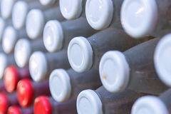 Close-up of old bottles caps for background Stock Photo