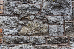 Close up of old brick or stone wall background Royalty Free Stock Image