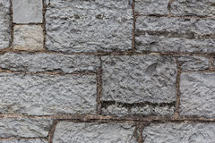 Close up of old brick or stone wall background Royalty Free Stock Photography