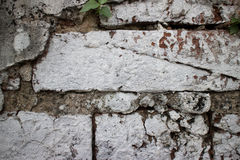 Close up of old brick wall at a former prison in Asia sloppily p. Close up of an old brick wall at a former prison in Asia hastily and Royalty Free Stock Photography