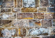Close up of an old brick wall in hdr Stock Photo