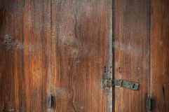 Close up old brown wood door unlock background stock images