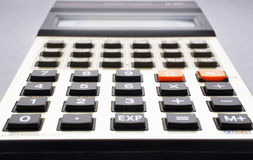 Close-up of old calculator selective focus Stock Photo