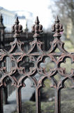 Close-up of an old cast iron fence Royalty Free Stock Photography