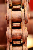 Close up on the old chain Stock Image