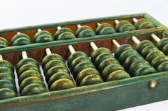 Close up of Old Chinese Abacus Stock Image