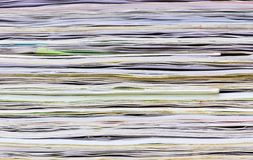 Close-up of old colorful notebook spine Stock Photography