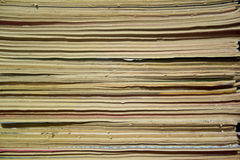 Close Up of Old Comics. Aged Royalty Free Stock Images