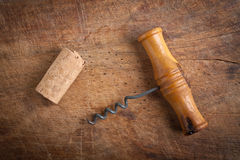 Corkscrew  and dork. Royalty Free Stock Photos