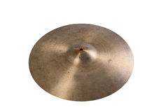 Close up of an old cymbal Royalty Free Stock Photo